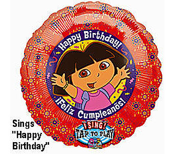 BB328 Dora Birthday 36'' Singing Balloon in Oklahoma City OK, Array of Flowers & Gifts