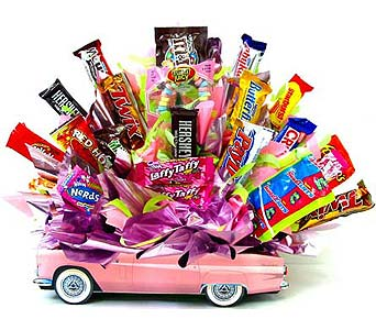 CB269 ''Her Sweet Ride'' Candy Bouquet in Oklahoma City OK, Array of Flowers & Gifts
