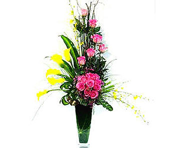 FF118 ''Charming Beauty'' Vase Arrangement in Oklahoma City OK, Array of Flowers & Gifts