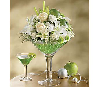 Apple Martini Bouquet dans Watertown CT, Agnew Florist