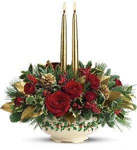 Lenox Holly-Day Bouquet by Teleflora in Depew NY, Elaine's Flower Shoppe