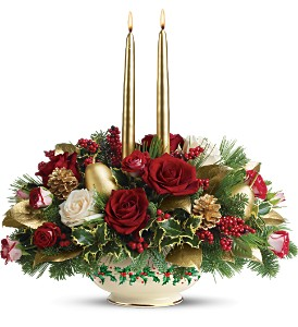 Lenox Holly-Day Bouquet by Teleflora - Deluxe in Mobile AL, Cleveland the Florist
