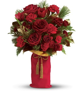 Teleflora's Holiday Wishes Bouquet - Deluxe in Parma OH, Pawlaks Florist