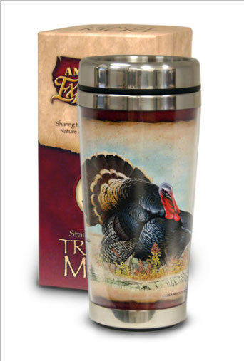 Wild Turkey Stainless Steel Travel Mug in Camden AR, Camden Flower Shop