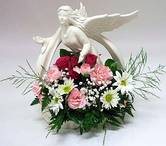 Angel of the Garden W/flowers in Indianapolis IN, Gillespie Florists