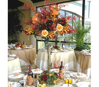 Orchids and Roses on Iron Stand in Stuart FL, Harbour Bay Florist