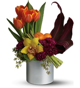 Teleflora's Top Chef Kitchen Connoisseur in Dubuque IA, New White Florist