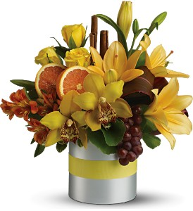 Teleflora's Top Chef Citrus in Dubuque IA, New White Florist