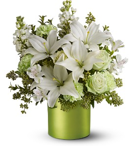 Teleflora's Sea Spray - Deluxe in Dubuque IA, New White Florist