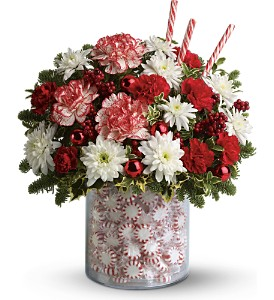 Teleflora's Holiday Surprise Bouquet in Newburgh NY, Foti Flowers at Yuess Gardens