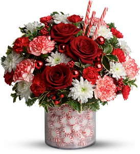 Teleflora's Holiday Surprise Bouquet - Deluxe in Grass Lake MI, Designs By Judy
