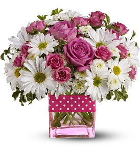 Teleflora's Polka Dots and Posies - Deluxe in Fairfield CA, Rose Florist & Gift Shop
