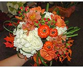 Fall Bouquet with Mini Pumpkins in Worcester MA, Herbert Berg Florist, Inc.
