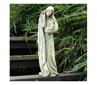 Mary with Baby Figure in Royal Oak MI, Affordable Flowers