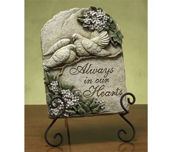 Always in Our Heart Plaque in Royal Oak MI, Affordable Flowers