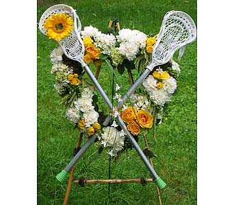 Lacrosse Tribute Heart in Guilford CT, Guilford White House Florist