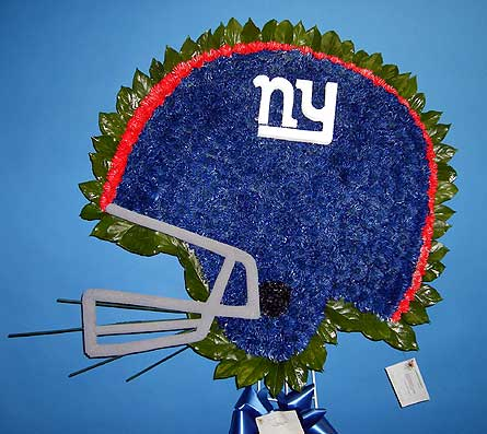 NY Giants Helmet in Brick Town NJ, Flowers R Blooming of Brick