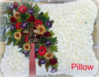 Pillow Funeral Arrangement in Staten Island NY, Kitty's and Family Florist Inc.
