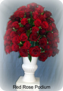 Red Rose Urn in Staten Island NY, Kitty's and Family Florist Inc.