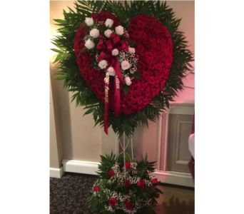 All Rose Heart with Break in Staten Island NY, Kitty's and Family Florist Inc.