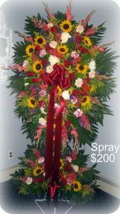 Standing Spray with Matching Base in Staten Island NY, Kitty's and Family Florist Inc.