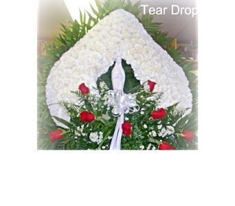 Tear Drop with Break and Statue in Staten Island NY, Kitty's and Family Florist Inc.