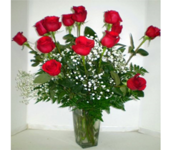Rose Romance Deluxe in Falmouth MA, Falmouth Florist 508-540-2020