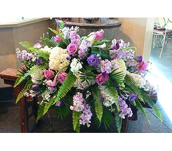Classic Half Casket Spray in Atlanta GA, Buckhead Blooms