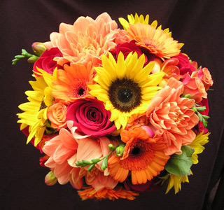 Autumn Sunset Bouquet in Portland ME, Dodge The Florist