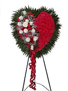 Red Bleeding Heart in Wading River NY, Forte's Wading River Florist