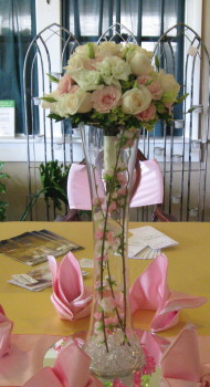 Cylinder Towered Centerpiece in Waukegan IL, Larsen Florist