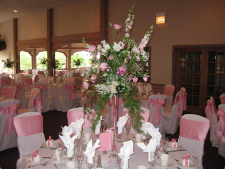 Eiffel Tower Centerpieces in Waukegan IL, Larsen Florist
