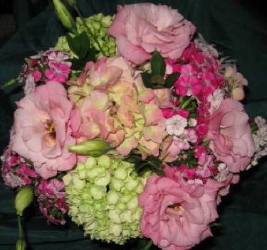 Summer Pinks Clutch in Waukegan IL, Larsen Florist