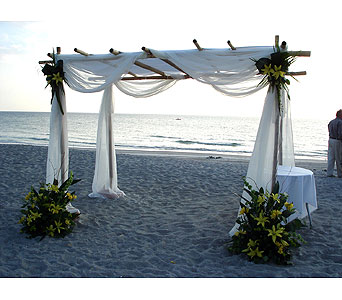 Fabric bamboo canopy w/floral clusters in Sarasota FL Flowers By Fudgie On Siesta  sc 1 st  Flowers by Fudgie & Ceremony Indoor u0026 Outdoor Delivery Sarasota FL - Flowers By ...