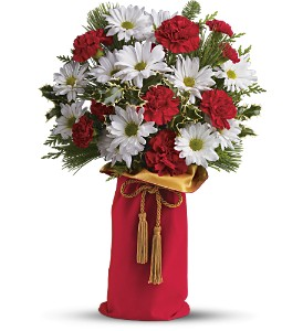 Teleflora's Holiday Wishes Bouquet in Houston TX, Fancy Flowers