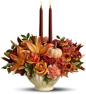 Lenox Gift of Autumn by Teleflora - Deluxe in Norfolk VA, The Sunflower Florist