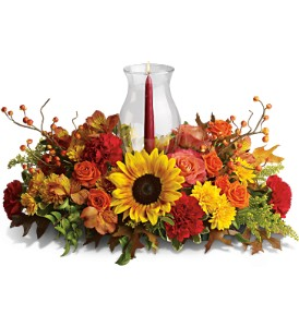 Delight-fall Centerpiece in Abington MA, The Hutcheon's Flower Co, Inc.