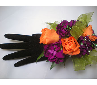 Show Girl Wrist Corsage in Detroit and St. Clair Shores MI, Conner Park Florist