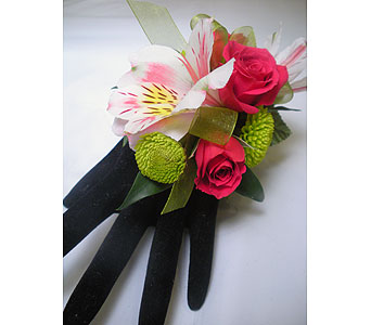 Pink Passion Wrist Corsage in Detroit and St. Clair Shores MI, Conner Park Florist