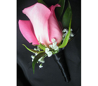 Midnight Wrap Boutonniere in Detroit and St. Clair Shores MI, Conner Park Florist