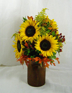 Supreme Sunflowers in Royersford PA, Three Peas In A Pod Florist