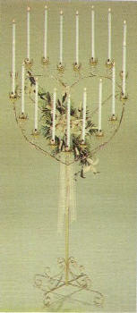 Brass Double Heart Candelabra in Durham NC, Sarah's Creation Florist