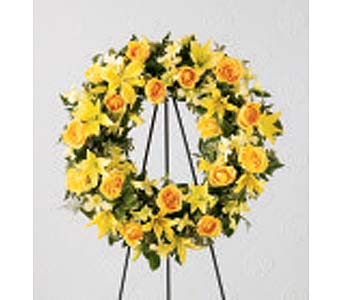 The FTD� Ring of Friendship� Wreath in Des Moines IA, Doherty's Flowers