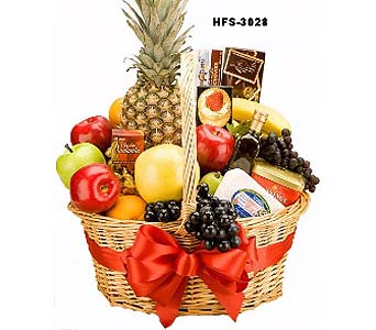Fruit Cheese & Crackers in Fairfield CT, Town and Country Florist