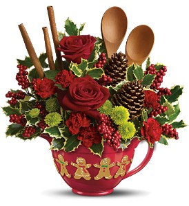 Teleflora's Christmas Cookie Bouquet in Columbus MS, Noweta's Green Thumb