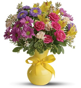 Teleflora's Color It Happy in Spring TX, A Yellow Rose Floral Boutique