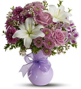 Teleflora's Precious in Purple in Latrobe PA, Floral Fountain