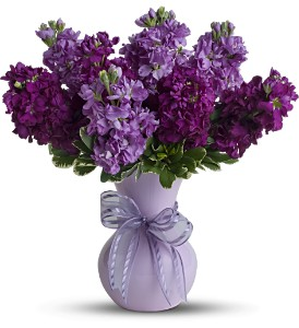 Teleflora's Visions of Violet in Hilton NY, Justice Flower Shop
