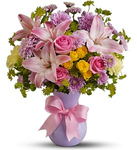 Teleflora's Perfectly Pastel - Deluxe in Quitman TX, Sweet Expressions