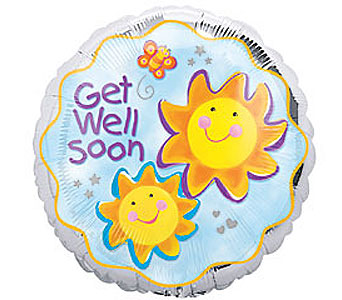 Get Well Soon Mylar Balloon in Oklahoma City OK, Trochta's